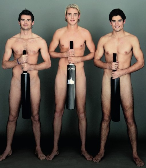 England cricketers naked, for a good cause